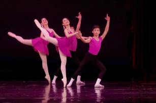 Yella Carlos, Gabby Tagle and Christopher Openiano at the Australian Conservatoire of Ballet Gala 2015