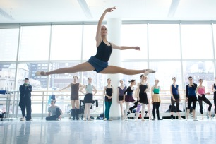 Joey Atayde taking class at the 2009 New York International Ballet Competition