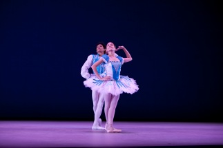 Joey Atayde and Derek Rocas onstage at the New York International Ballet Competition in 2009